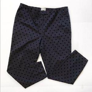 Soft Surroundings polka dot cropped pants size 16